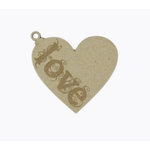 Grapevine Designs and Studio - Chipboard Shapes - Love Heart Ornament - Large