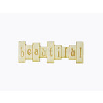 Grapevine Designs and Studio - Wood Shapes - Beautiful Title