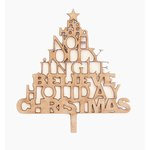 Grapevine Designs and Studio - Christmas - Chipboard Shapes - Holiday Sayings Tree