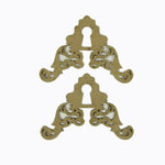 Grapevine Designs and Studio - Chipboard Shapes - Corner Key Hole Flourish