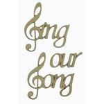 Grapevine Designs and Studio - Chipboard Shapes - Sing our Song