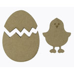 Grapevine Designs and Studio - Chipboard Shapes - Chick in her Shell
