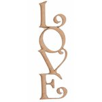 Grapevine Designs and Studio - Chipboard Shapes - Love Vertical