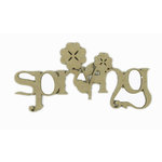 Grapevine Designs and Studio - Chipboard Shapes - Spring with Flower