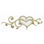 Grapevine Designs and Studio - Chipboard Shapes - Card Heart Flourish