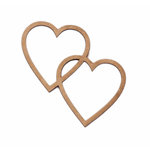Grapevine Designs and Studio - Chipboard Shapes - Two Hearts