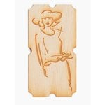 Grapevine Designs and Studio - Wood Shapes - Woman on Ticket