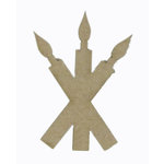 Grapevine Designs and Studio - Chipboard Shapes - Candle Trio