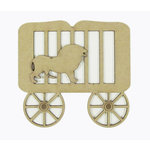 Grapevine Designs and Studio - Chipboard Shapes - Lion In Circus Cart