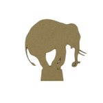 Grapevine Designs and Studio - Chipboard Shapes - Performing Elephant