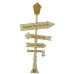 Grapevine Designs and Studio - Wood Shapes - Happiest Place Sign Post - Large