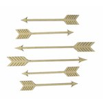 Grapevine Designs and Studio - Chipboard Shapes - Arrows - Pack of 6
