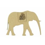 Grapevine Designs and Studio - Chipboard Shapes - Baby Elephant