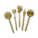 Grapevine Designs and Studio - Wood Shapes - Wine Toothpicks