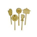 Grapevine Designs and Studio - Wood Shapes - Kitchen Toothpicks