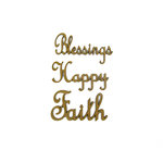 Grapevine Designs and Studio - Wood Shapes - Blessings Happy Faith Words