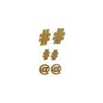 Grapevine Designs and Studio - Wood Shapes - Social Media Symbols