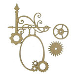 Grapevine Designs and Studio - Chipboard Shapes - Steampunk Flourish Frame