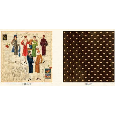 Graphic 45 - Times Nouveau Collection - 12x12 Double Sided Paper - Glad Rags
