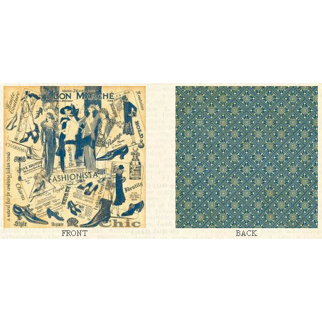 Graphic 45 - Fashionista Collection - 12 x 12 Double Sided Paper - Bon Marche