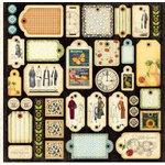Graphic 45 - Times Nouveau Collection - 12x12 Die Cuts - Tags