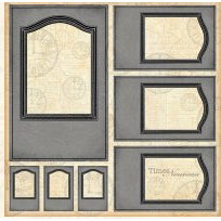 Graphic 45 - Times Nouveau Collection - 12x12 Die Cuts - Frames