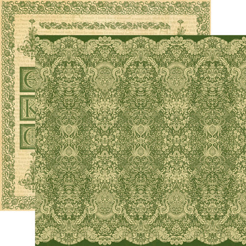 Graphic 45 - Renaissance Faire Collecion - 12 x 12 Double Sided Paper - Venetian Lace