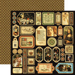Graphic 45 - Renaissance Faire Collecion - 12 x 12 Die Cuts - Tags