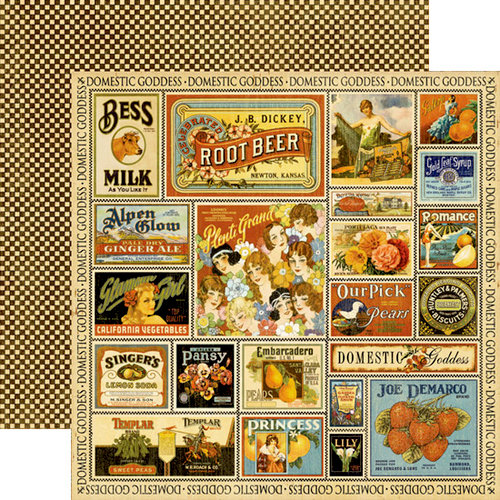 Graphic 45 - Domestic Goddess - 12 x 12 Double Sided Paper - Farmers Market