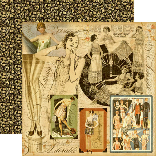 Graphic 45 - Domestic Goddess - 12 x 12 Double Sided Paper - Lady of the House