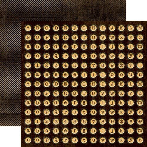 Graphic 45 - Domestic Goddess - 12 x 12 Die Cuts - Alphabet