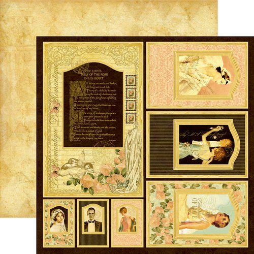 Graphic 45 - Le Romantique Collection - 12 x 12 Die Cuts - Le Romantique Frames