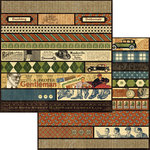 Graphic 45 - A Proper Gentleman Collection - 12 x 12 Die Cuts - Borders