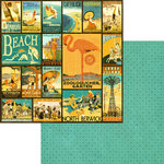 Graphic 45 - On the Boardwalk Collection - 12 x 12 Double Sided Paper - High Style Holiday