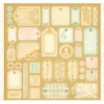 Graphic 45 - Baby 2 Bride Collection - 12x12 Die Cuts - Tags