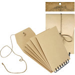 Graphic 45 - Staples Collection - Envelope Album - Kraft
