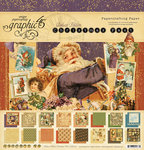 Graphic 45 - Christmas Past Collection - Deluxe Edition - 12 x 12 Paper Pad