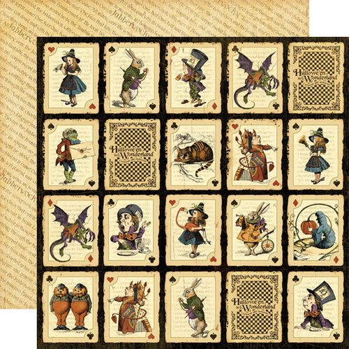 Graphic 45 - Hallowe'en in Wonderland Collection - 12 x 12 Double Sided Paper - Jabberwocky
