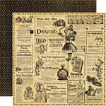 Graphic 45 - Hallowe'en in Wonderland Collection - 12 x 12 Double Sided Paper - Wonderland Classifieds