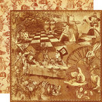 Graphic 45 - Hallowe'en in Wonderland Collection - 12 x 12 Double Sided Paper - Curiouser and Curiouser