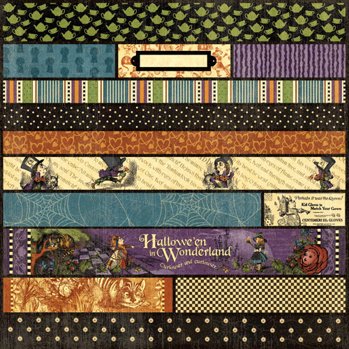 Graphic 45 - Hallowe'en in Wonderland Collection - 12 x 12 Die Cuts - Borders