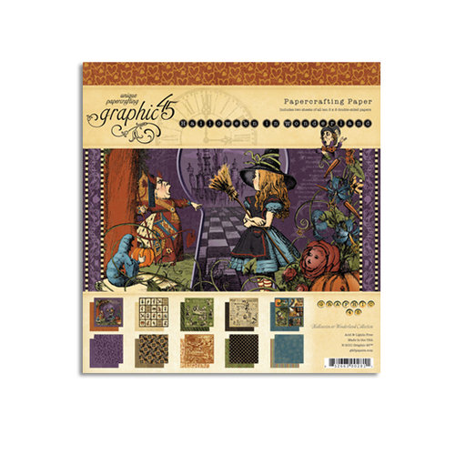 Graphic 45 - Hallowe'en in Wonderland Collection - 8 x 8 Paper Pad