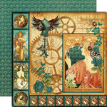 Graphic 45 - Steampunk Debutante Collection - 12 x 12 Double Sided Paper - Steampunk Debutante