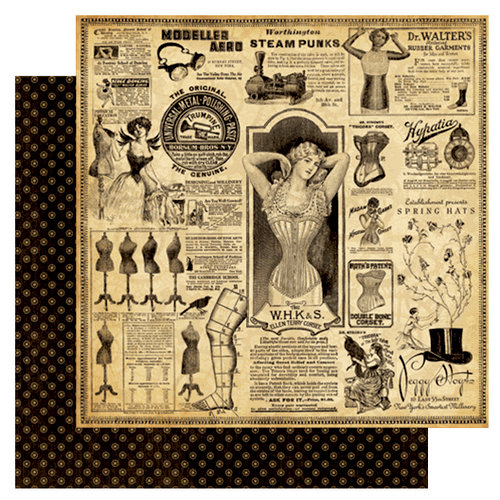 Graphic 45 - Steampunk Debutante Collection - 12 x 12 Double Sided Paper - Eclectic Emporium