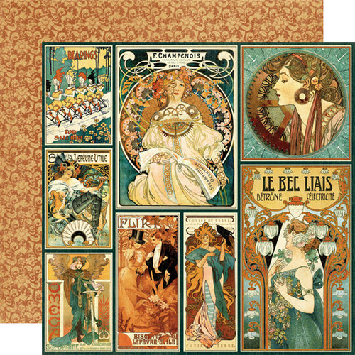 Graphic 45 - Steampunk Debutante Collection - 12 x 12 Double Sided Paper - Nouveau Artistry