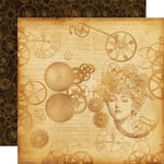 Graphic 45 - Steampunk Debutante Collection - 12 x 12 Double Sided Paper - Mechanical Mind