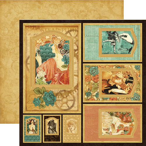 Graphic 45 - Steampunk Debutante Collection - 12 x 12 Double Sided Paper - Frames