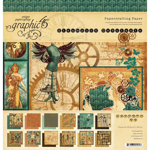 Graphic 45 - Steampunk Debutante Collection - 12 x 12 Paper Pad
