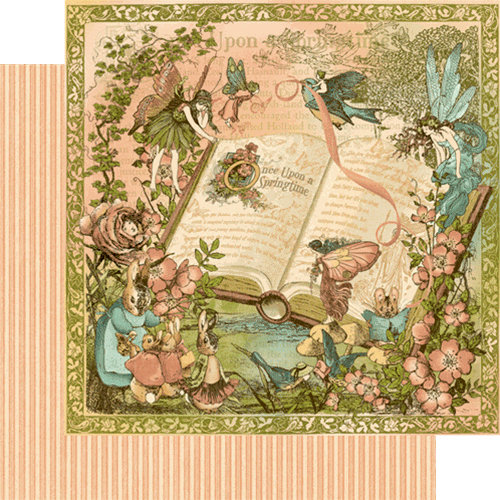 Graphic 45 - Once Upon a Springtime Collection - 12 x 12 Double Sided Paper - Once Upon a Springtime