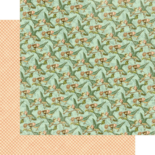 Graphic 45 - Once Upon a Springtime Collection - 12 x 12 Double Sided Paper - Flight of Fancy
